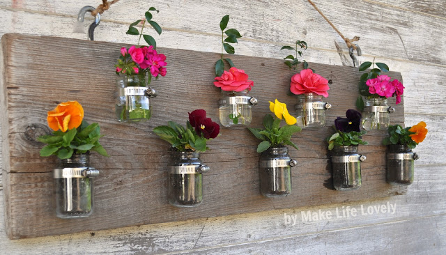 DIY pots fleuris